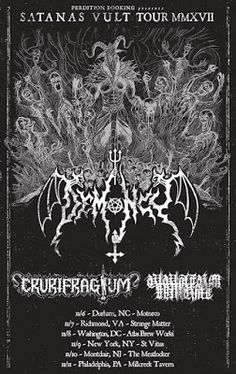Long Live The Loud 666: SATANAS CVLT TOUR 2017 WITH:DEMONCY,CRURIFRAGIUM