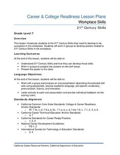 Workplace Skills Lesson Plan Lessons College Career Readiness Lesson