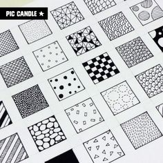 30 Doodle Patterns   watch this doodle video on www.youtube.com/piccandle   #doodle #patterns