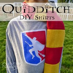 DIY National Quidditch League Shirts - Boy and Girl Versions - Freezer Paper Stencil and Applique
