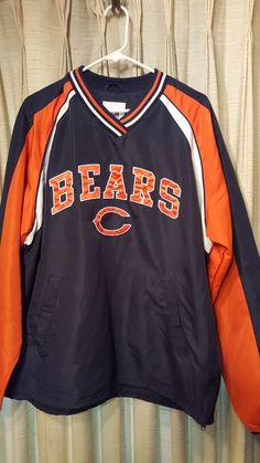 Chicago  Bears  NFL  Football Polyester Pullover (large)  NFL-sewn On from   17.99 4b79001b5a94