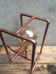 Lámpara de tubo de cobre por CopperLampCompany en Etsy