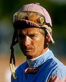 Bill Shoemaker (1931-2003) was another legendary jockey ranked right at the top with Eddie Arcaro and Bill Hartack. In a racing career that spanned 41 years, he had a staggering 40,350 mounts and 8,833 wins (winning percentage 21.9%); that victory total is still the record. He was the U.S. Champion Jockey by earnings for 10 years and by wins for 1950, 1953, 1954, 1958 and 1959. Throughout the years he rode the best horses: Swaps, Round Table, Northern Dancer, Buckpasser, Ack Ack, Ferdinand…