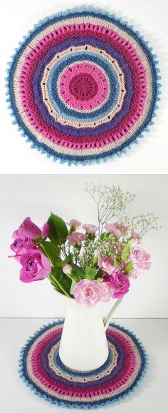 Free Knitting Pattern for Mandala