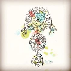 Dreamcatcher illustration : messing round with the colour solution