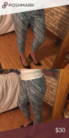 Slim crop pants Slim leg crop pants (length: mid calf) / elastic waist band / jogger fit / perfect for business casual office environment New York & Company Pants Capris