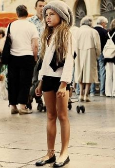thylane lena rose blondeau.....she can work this outfit