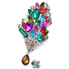 Pugster Romatic Colorful Crystal Bouquet Flower Set Brooches And Pins Pugster. $14.39. Exquisitely detailed designer style,Swarovski element crystal. Can be pinned on your gown or fastened in your hair with bobby pins.. One free elegant cushioned Gift box available with every order from Pugster.. Money-back Satisfaction Guarantee. Occasion: casual wear,anniversary, bridal, cocktail party, wedding