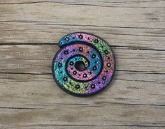 Rustic tribal style colorful hollow bead by DreamsAndElements