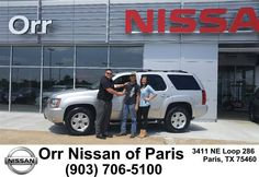 https://flic.kr/p/HsWoUs | Congratulations Justin on your #Chevrolet #Tahoe from Troy Harrell at Orr Nissan of Paris! | deliverymaxx.com/DealerReviews.aspx?DealerCode=J476