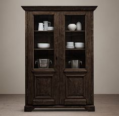 """18th C. French Baroque Double-Door Cabinet - RH - 67""""W x 18.5""""D x 93.75""""H - $4195"""