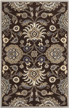 CAE1063, Chocolate Brown, Hand Tufted, Surya Rug Co. available from rugsdoneright.com
