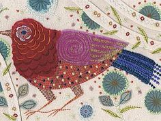 Случайно набрела на неведомый мне доселе блог с удивительными фото, долго разглядывала птиц ручной вышивки: какая тонкая техника, какие краски, рисунки необыкновенные, а потом дошла и до вышивки машинной — была близка к обмороку... Ох, нравится... не могу больше восхищаться в одиночестве — делюсь с вами! Итак, Нэнси Николсон, дизайнер, художник по текстилю, живет в графстве Кент, Великобритания, выпускница Королевского колледжа искусств…