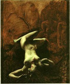 Jean Delville (Belgian, 1867-1953). Le Crime, 1897