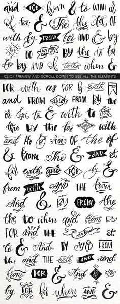 Ampersands & Catchwords by kite-kit on Creative Market