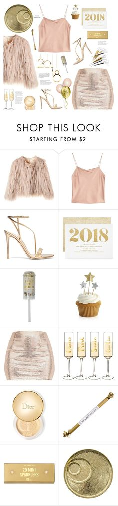 """n҉e҉w҉ y҉e҉a҉r҉s҉ e҉v҉e҉ p҉a҉r҉t҉y҉"" by mylkbar ❤ liked on Polyvore featuring Alice + Olivia, Gianvito Rossi, Meri Meri, Crate and Barrel, Cathy's Concepts, Christian Dior, Talking Tables and Jayson Home"