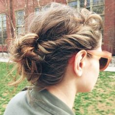 good idea for messy hair days