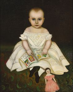 Attributed to Joseph Whiting Stock (1815 - 1855) Painted circa 1830. oil on canvas 27 1/8 in. by 21 1/2 in.