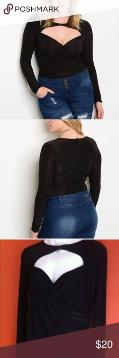 NWOT Black Body Suit reposhing. was a little too tight for me. may fit 1X better. Shop the Trends Tops