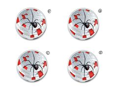 Red-Back Spider Design for a Coin by davefromwy
