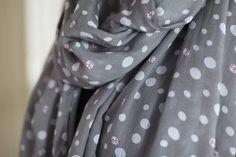 Women's Lady Bug Polka Dot Gray Scarf Oversize Fashion Shawl at Amazon Women's Clothing store: Fashion Scarves