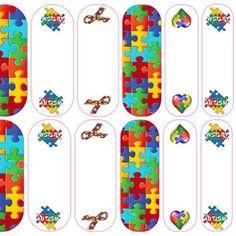 "Autism ""I love someone"" Nail Art #autism #nailart #manicure"