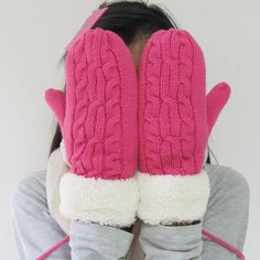 Find More Gloves & Mittens Information about  winter super warm double thick lamb wool knitted gloves gloves gloves women's   glove  mittens,High Quality Gloves & Mittens from huanyu commodity  co.,ltd on Aliexpress.com