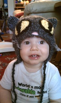 Crocheted Cat Hat by jhcrafter on Etsy, $20.00