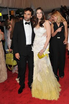Liv Tyler in Givenchy couture with the designer Riccardo Tisci