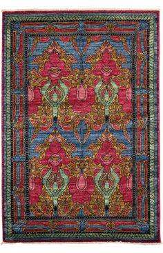 Darya Rugs Arts and Crafts Romona Blue Rug | Southwestern Rugs