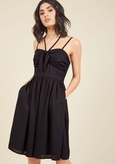 Guests Welcome Convertible A-Line Dress in Black