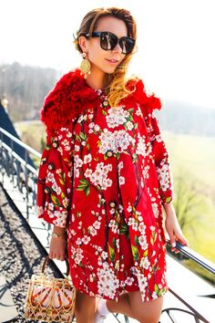 cherry blossom coat - Google Search Red Coats, Cherry Blossom, Google Search, Casual, Jackets, Dresses, Fashion, Red Pea Coats, Down Jackets