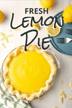 Lemon Pie Recipe - - This homemade lemon meringue pie recipe might just be the perfect dessert. With a sweet & tangy filling, a flaky pie crust, and a fluffy meringue, it's no wonder lemon pie is such a favorite! Easy Lemon Pie, Mini Lemon Meringue Pies, Lemon Meringue Cheesecake, Lemon Creme Pie, Mini Desserts, Lemon Desserts, Dessert Recipes, Lemon Pie Recipes, Best Lemon Pie Recipe