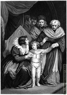 [Picture: Elizabeth Woodville Surrendering Her Son]  Elizabeth Woodville was the consort of King Edward IV. and the mother of Edward V., King of England for only two months, at the age of thirteen, in 1483, before being locked up in the Tower of London and later, probably, murdered, along with his ten-year-old brother, Richard.
