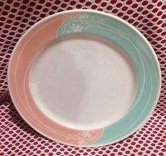 Pink-And-Blue-Floral-Restaurant-Ware-Plate-Shenango-China-1986-Floridian