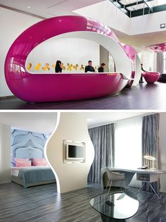 Nhow Hotel in Berlin by Karim Rashid - I love and loathe this all at the same time!