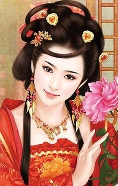 World Ethnic & Cultural Beauties Geisha Kunst, Geisha Art, Chinese Culture, Chinese Art, Asian Artwork, Afrique Art, Beautiful Fantasy Art, Ancient Beauty, Painting Of Girl