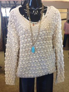 Gorgeous Oatmeal Sweater Just In! We are closed on Sundays, but don't let that stop you from shopping! Shop now @ www.luxecouturefashion.com Happy Sunday & Happy Luxe!