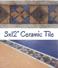"Antigua Border 3x12"" Listello - $4.50 each Glazed ceramic listello with a terracotta and blue design. Use it between your wall tiles as a decorative border. Floor use in low-traffic residential installations only. Actual dimensions: 2-7/8"" tall x 11-7/8"" wide x 5/16"" thick Need 50 or more? Contact us for bulk pricing. Backsplash Tile, Wall Tiles, Tile Fireplace, Decorative Borders, Vintage Bathrooms, Color Tile, Glazed Ceramic, Blue Design, Tile Patterns"