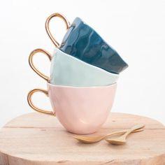 Tasse Good morning bleue Culture, Urban, Tea Cups, Pottery, Mugs, Coffee, Tableware, Palette, China