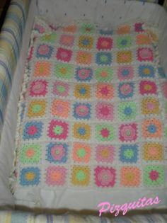 Resultado de imagen de colcha carrito bebe crochet lana