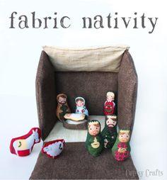 DIY fabric nativity for kids!
