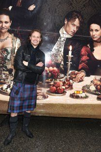 Sam Heughan as Grand Marshal of NY Tartan Parade
