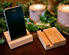 Tech Lover wooden phone stand