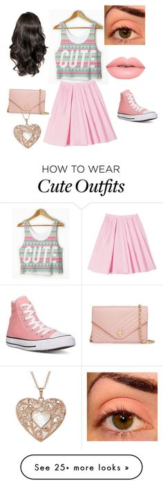 """New years outfit"" by cute-kitty18 on Polyvore featuring Carven, Converse, Lime Crime and Tory Burch"