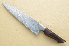 Chef's Knife (10 in) with Babbling Brook Pattern Damascus and Figured Walnut Mareko Maumasi