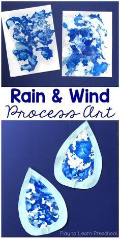 Rain and Wind Process Art #preschoolart #processart #artideas #preschoolpainting #preschoolteacher
