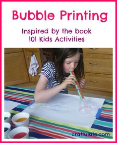 Bubble Printing from Craftulate