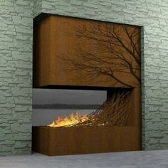 Stunning Fire Place