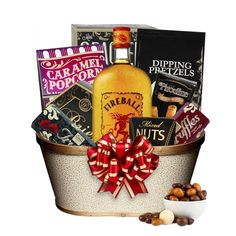 fireball liquor gift basket
